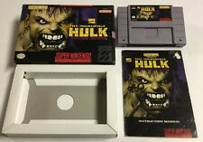 Marvel The Incredible Hulk for Super Nintendo SNES CIB Complete In Box Rare