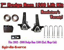 "2002 - 2008 Dodge Ram 1500 2WD 7"" Front 4"" Rear Spindle Coil Block Lift Kit"
