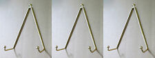 """Set of 3 Brass Plate Hanger,Displays Plates on Wall Size 3 1/2"""" to 5"""" diameter"""
