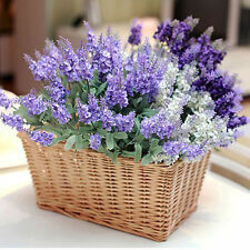 Artificial Silk Lavender Flowers Bouquet Craft Wedding Home Party Decor
