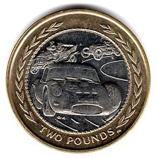 1998 VINTAGE CAR RALLY IOM £2 COIN RARE TWO POUND FIFTY ISLE OF MAN a