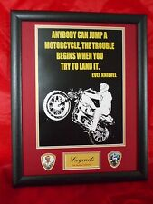 Evel Knievel 'Famous Quotes' Framed Print & Plectrum Display