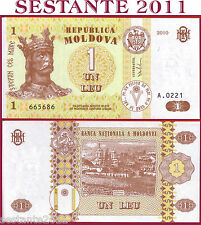MOLDOVA - 1 LEU  2010  With Security Thread Con filo sicurezza  P 8h - FDS / UNC