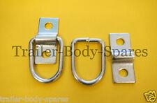 Libre 1er classe post - 2 x anneaux d'ancrage petites couverture remorque corde attacher #bh 204