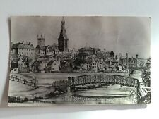 Vintage Postcard - RP Drawing 1955 Signed - unposted