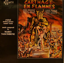 "OST - SOUNDTRACK - CARTHAGE EN FLAMMES - MARIO NASCIMBENE  12"" LP (L873)"