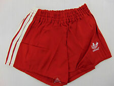 Vintage 80 ADIDAS Pantaloncini D164 XS S Bambino 13 14 Anni Rosso Shorts West