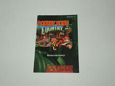 DONKEY KONG COUNTRY snes MANUAL ONLY super nintendo