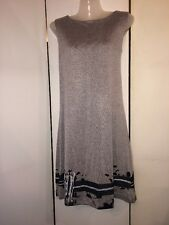 NEW Cop Copine France Gray Sleeveless Jersey Dress Size M