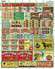 5025 DAVE'S DECALS HO SCALE ROOT BEER SODA SIGN ADVERTISING CAFE BBQ PIZZA SHOP