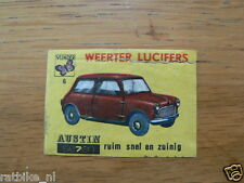 06 WEERTER LUCIFERS AUSTIN MINI ,MATCHBOX LABELS,ETIKETTEN