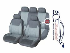 9 PCE Full Set of Grey Woven Fabric Seat Covers for Mitsubishi Colt Lancer Galan