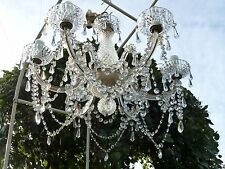 6 Arm Glass Crystal Chandelier Ceiling Light