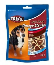 Pet Dog Treats Snack Food Omega Steaks with Beef & Omega 3 Oil by TRIXIE