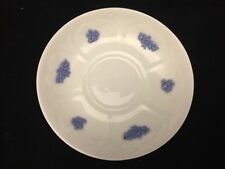 VINTAGE ADDERLEYS 5.5 INCH SAUCER PLATE-MADE IN ENGLAND-WITH RAISED BLUE FLOWERS
