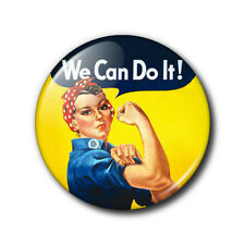 25mm Button Badge - Rosie the Riveter - We Can Do It!