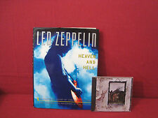 LED ZEPPELIN HEAVEN AND HELL 1ST EDITION WITH DUST JACKET+LED ZEPPELIN #4 CD