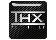 "THX Certified 1""x1"" Chrome Domed Case Badge / Sticker Logo"
