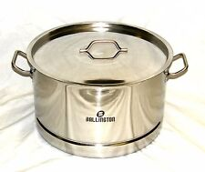 55 qt Quart Stainless Steel Low Wide Pot Steamer rack canning beer brewing Stew