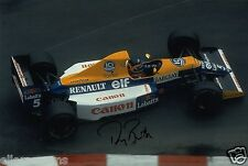 """F1 Driver Formula One Thierry Boutsen Hand Signed Photo Autograph  12x8"""" AC"""