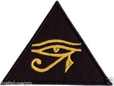 EYE OF HORUS EMBROIDERED PATCH UDJAT KNOWLEDGE OCCULTISM UTCHAT RA Metal Negro