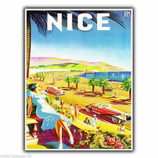 NICE FRANCE Vintage Retro Travel Advert METAL WALL SIGN PLAQUE poster print