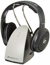 Sennheiser RS120 Wireless RF On Ear HEADPHONES + CHARGING DOCK, Black free ship