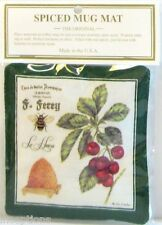 Alice's Cottage Cotton Scented Spiced Mug Mat Coaster Cherries Bee Hive - NEW