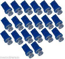 20 AMPOULES VEILLEUSES IMMATRICULATION T10 W5W A LED BLEU LUMIERE BLEUE  C1881