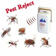 2x White Ultra Sonic Mice Mouse Rodent Rat Spider Mole Ant Pest Repeller Plug In