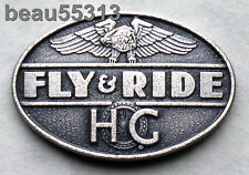 """HARLEY DAVIDSON OWNERS GROUP HOG  """"FLY & RIDE"""" DISCONTINUED PROGRAM PIN"""