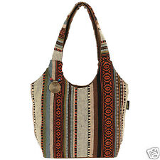 Catori Sandstone Brown Black Bohemian Chic Scoop Shoulder Handbag Tote Bag New