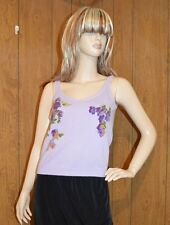 Moschino Cheap & Chic Stunning Purple Lavender Floral Wool/Angora Tank Top Sz 8
