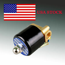 "Pro 12V DC 2W 1/4"" ELECTRIC Solenoid Valve for water air gas diesel US fast ship"