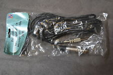 I49BMIC20B Female XLR To 1/4 Inch Plug 20 Feet Microphone Cable Black Brand New