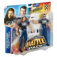 WWF WWE TNA Mattel Battle Pack NWO KEVIN NASH & SCOTT HALL 2 figure toy set