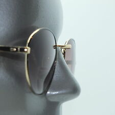 Reading Glasses +1.00 Bifocal Tinted Sun Reader Aviator Gold Metal Frame