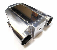 "Universal air eau liquide intercooler charge cooler 3"" 76mm inlet course drag voiture"