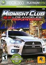 MIDNIGHT CLUB: LOS ANGELES - COMPLETE EDITION (PH)  (XBOX 360, 2009) (7172)