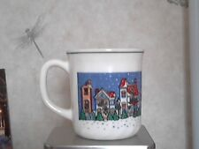 ARCOPAL FRANCE CHRISTMAS HOLIDAY VILLAGE CUP MUG Exc Cond Winter Snow