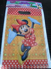 Disney MINNIE Party Favor Loots BAGS Girl Red Birthday Polka Dots Decoration NEW