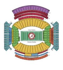 4 Alabama Football vs Chattanooga Tickets Together 11/19/16 (Tuscaloosa)