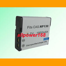 Battery For Casio NP-130 NP130 NP-130DBA NP130DBA EX-ZR100 EXZR100 ZR100 NEW
