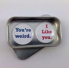 Valentine, fun love cadeau, carte de remplacement, vous êtes bizarre. je t'aime set d'aimant