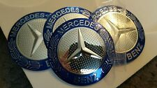 4 x RUOTA MERCEDES HUB CAPS BADGE EMBLEMA ADESIVI IN METALLO 56mm di alta qualità UK