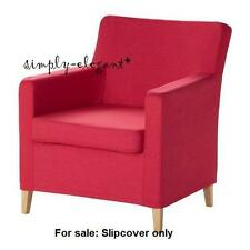 Ikea COVER for IKEA KARLSTAD Chair Small Armchair SLIPCOVER Sivik Pink - Red NEW