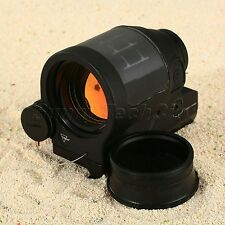 Tactical 1x38 Red Dot Reflex Sight Scope Solar Power for 20mm Rail Mount Rifle