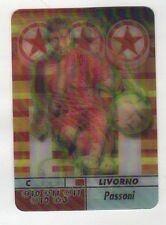 figurina CALCIO ANIMOTION 2004/05 LIVORNO PASSONI