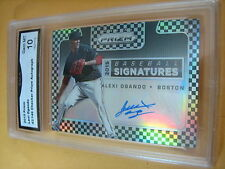 ALEXI OGANDO RED SOX 2015 PRIZM CHECKERED SIGNATURES AUTO # 43/149 GRADED 10
