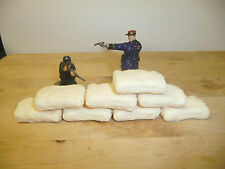 1/32 SCALE RESIN TEXTURED MEALIE BAGS /DEFENCE SACKS/ LARGE SANDBAGS 4 DIORAMAS